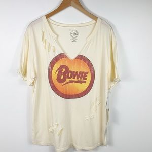 1767d82c01 Recycled Karma Tops - David Bowie Recycled Karma New Destroyed tee shirt
